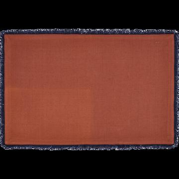 Sets de table en coton marron 30x45cm-CADI