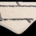 Tapis inspiration berbère écru et noir 140x200cm-BARTHELEMY