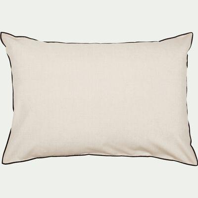 Coussin passepoil en coton - blanc 50x70cm-LINIA