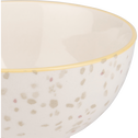 Coupelle en grès blanc motif terrazzo D11,5cm-GENES