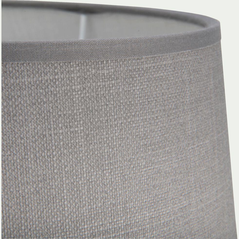 Abat-jour tambour en coton - D33cm gris restanque-MISTRAL
