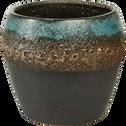 Cache-pot en céramique Bleu D17 cm-Namangan