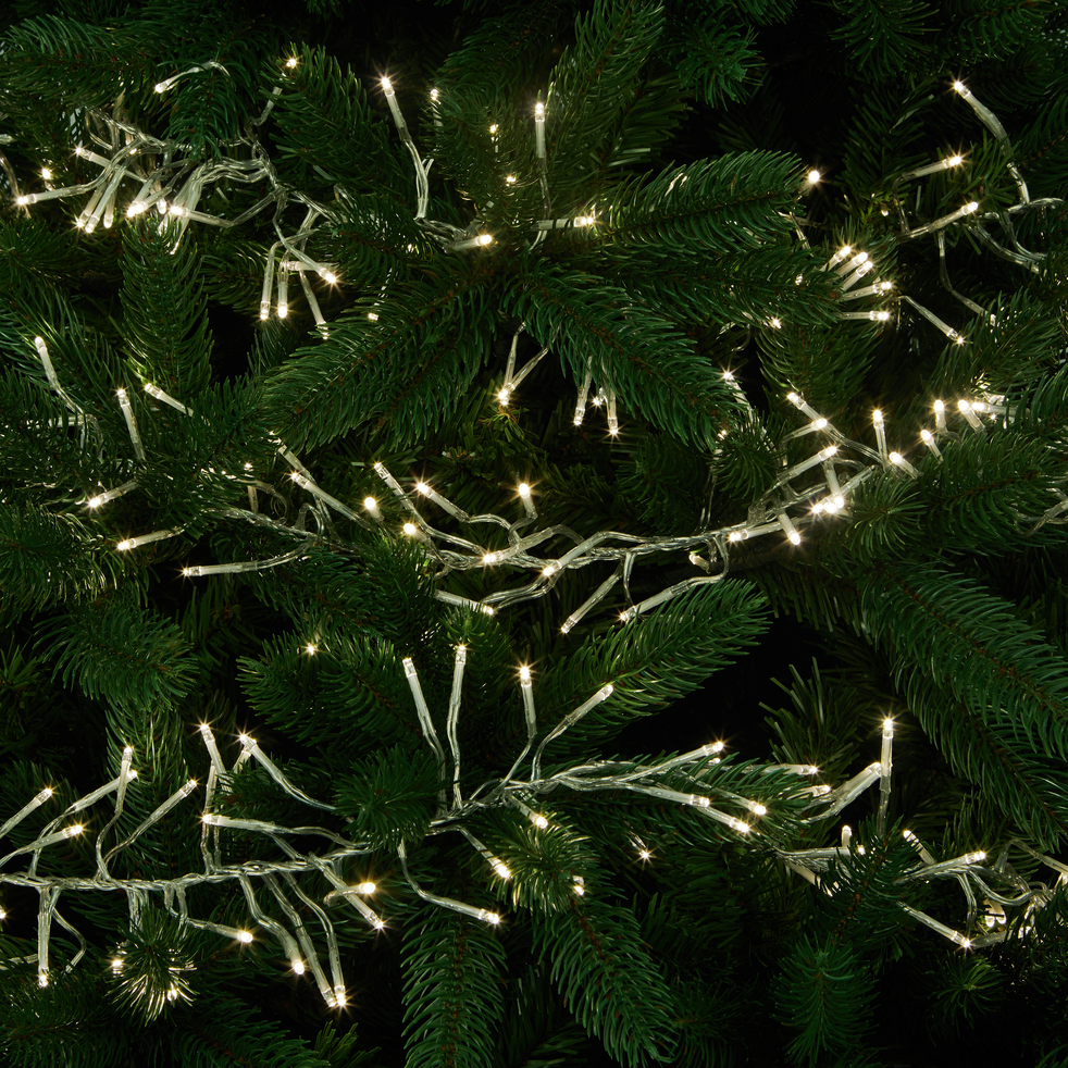 guirlande lumineuse 6m - 768 led blanc chaud-GRAPPE