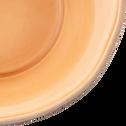 Assiette creuse en faïence beige nèfle D16,5cm-LUBERON