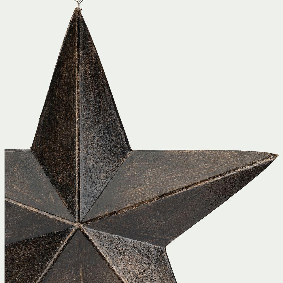Boule de Noël étoile en bois - marron D24,5cm-ANTONE