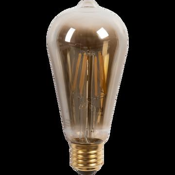 Ampoule décorative LED grise H16cm culot E27-POIRE