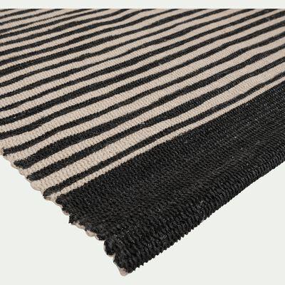 Tapis en coton noir et blanc 120x170 cm-ORGON