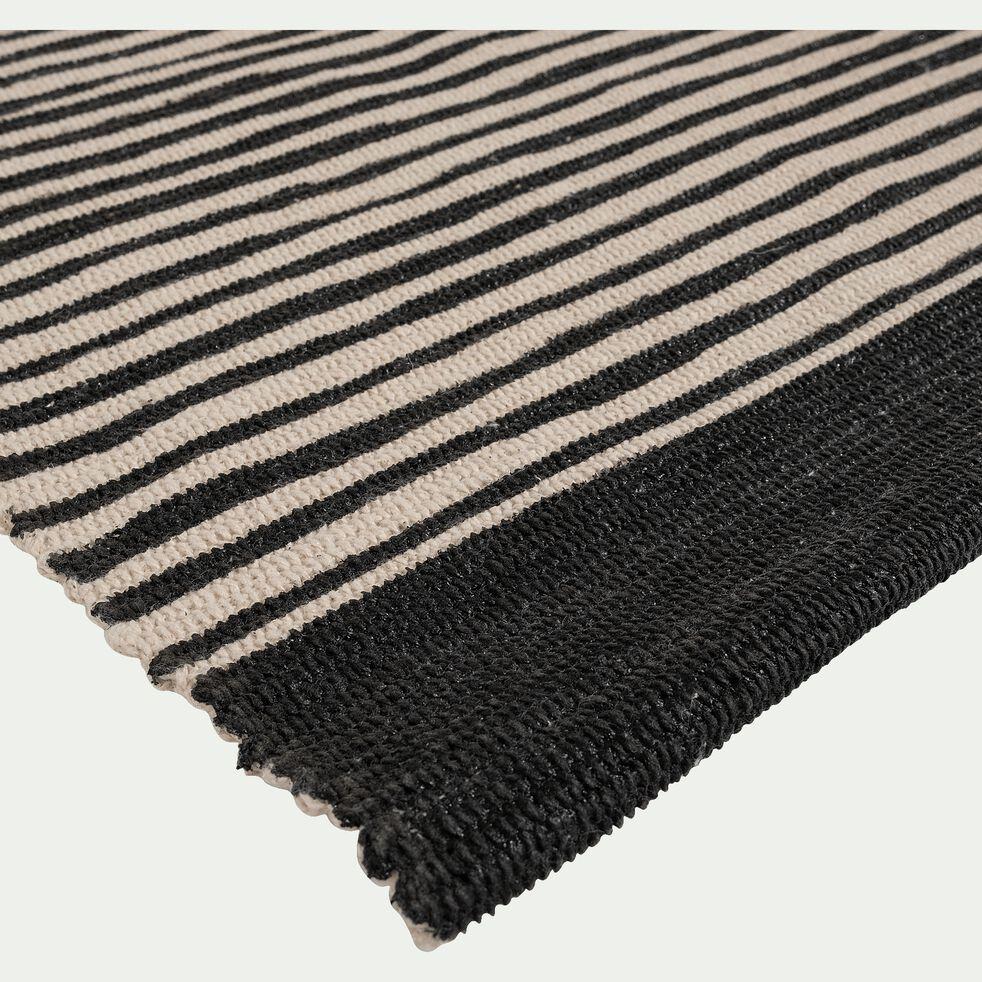 Tapis en coton - noir et blanc 120x170cm-ORGON