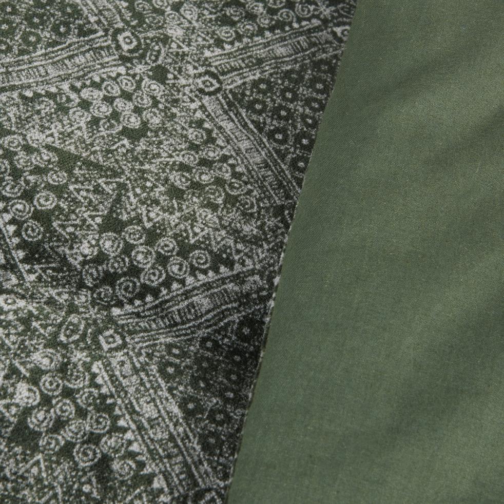 Édredon en coton vert cèdre 100x180cm-BATIK