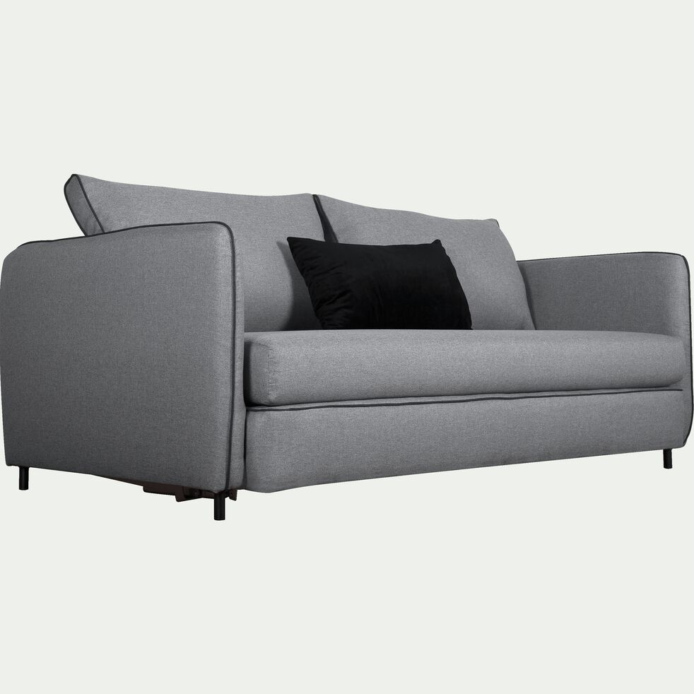 Canapé 3 places convertible en tissu - gris borie-SAOU