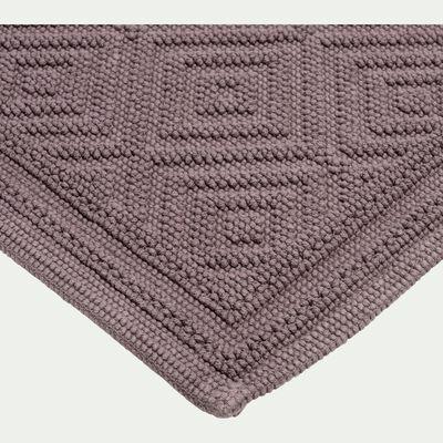 Tapis de bain en coton 60x100cm piquage en losanges gris restanque-SADOU