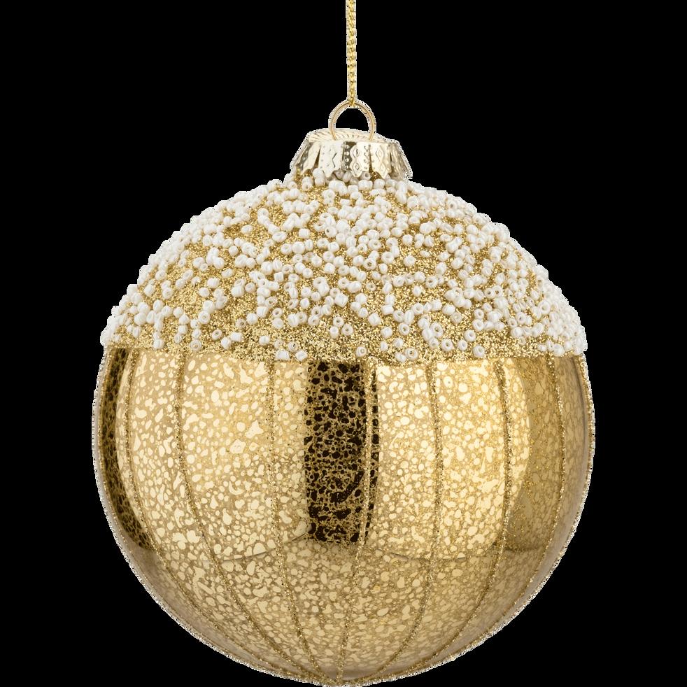 Boule en verre doré D10,5cm-TOSCA