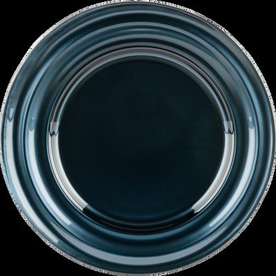 Assiette à dessert en verre gris anthracite D23,4cm-LISA