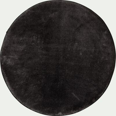 Tapis imitation fourrure - gris foncé D150cm-RUBICO