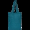 Housse de couette en lin Bleu figuerolles 260x240cm-VENCE