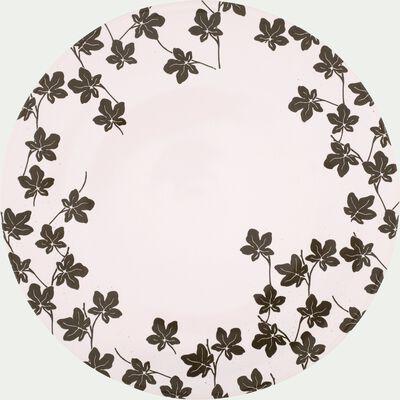 Assiette à dessert en porcelaine à motifs feuilles de figuier D21.5cm-FIGUIER