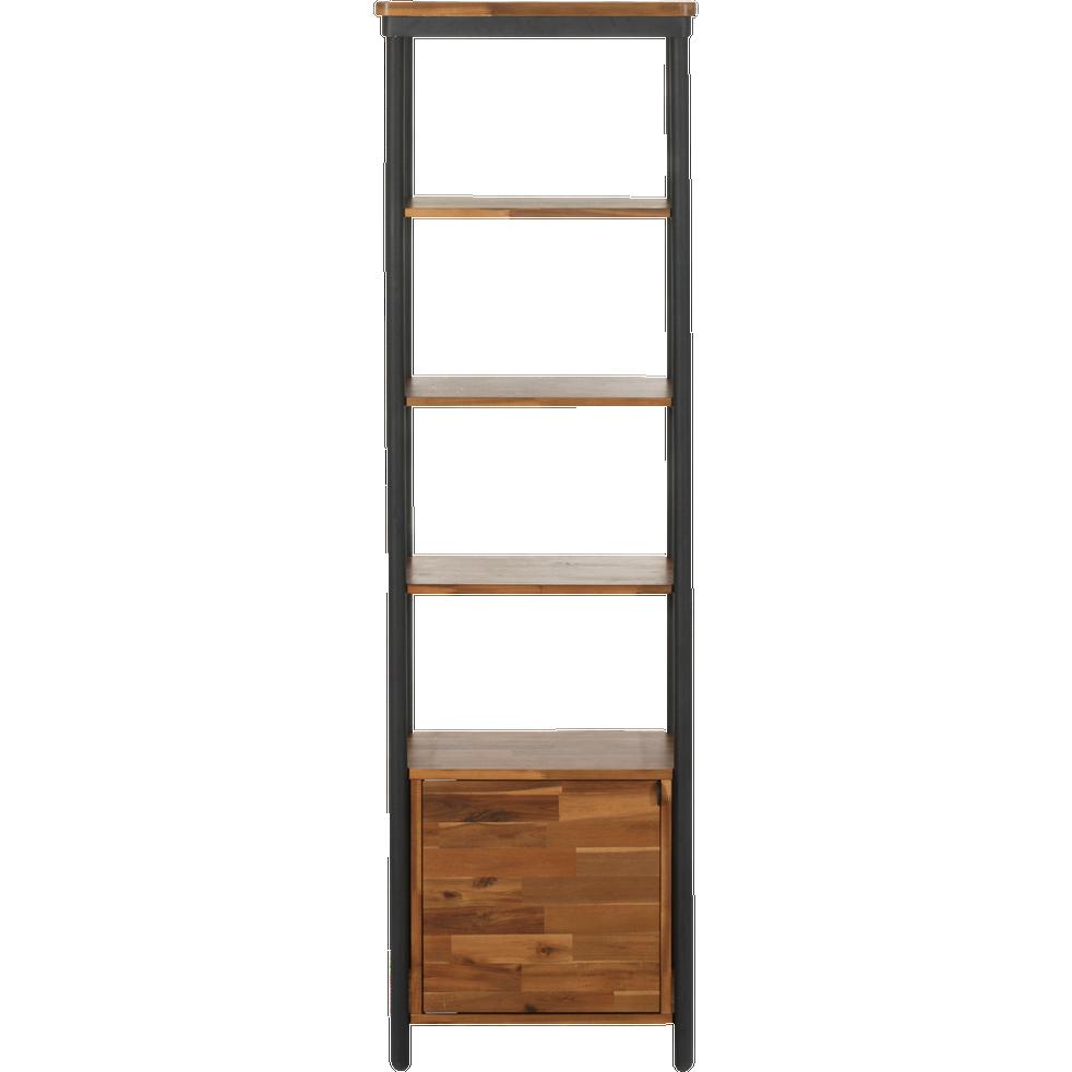 colonne de salle de bains en acacia et m tal 185cm kota. Black Bedroom Furniture Sets. Home Design Ideas