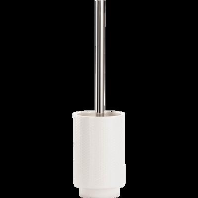 Balai et porte balai WC en céramique blanc ventoux-GHIBO