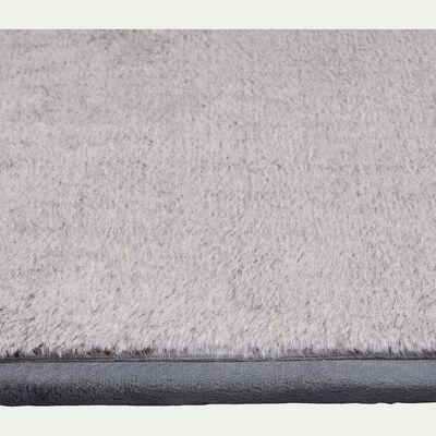 Tapis en fausse fourrure gris 120x170cm-Dallas