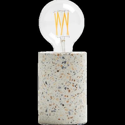 Lampe à poser en terrazzo H12,5xD9cm-PRAO