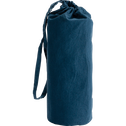 Drap housse en percale de coton lavé 60x120cm bleu figuerolles-PALOMA
