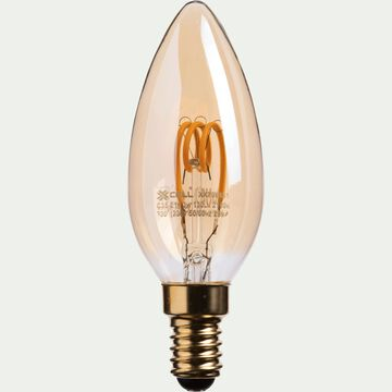 Ampoule décorative LED ambre D3,50cm culot E14-FLAMME