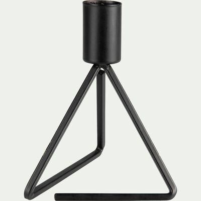 Bougeoir trépied en métal - noir H13,5cm-Pyramide