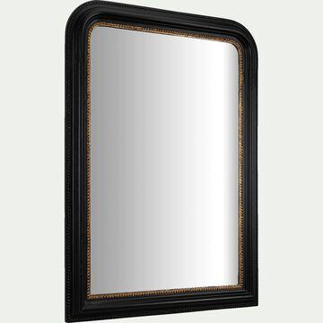 Miroir en bois - noir 80x110cm-CLOTIDE
