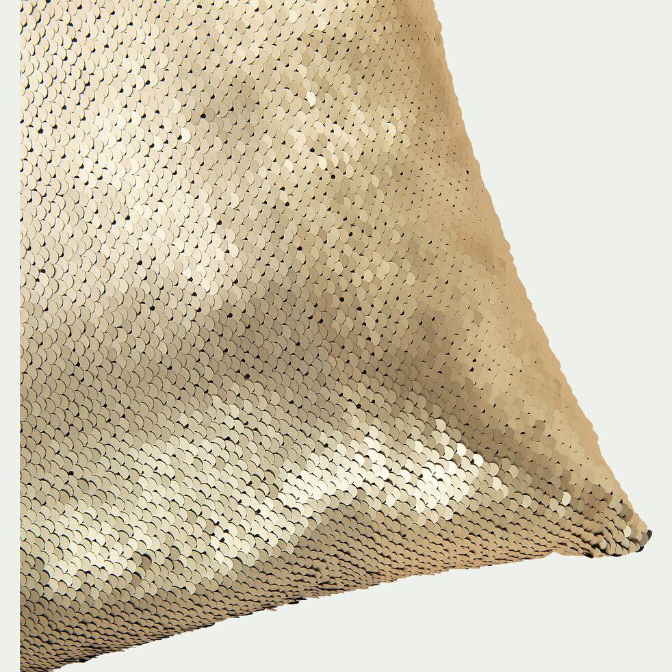 Coussin à sequins réversibles en polyester - doré et noir 40x40cm-OPHELY