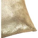 Coussin à sequins réversibles doré et noir 40x40cm-OPHELY