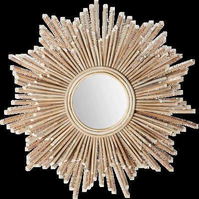 Miroir en bois D90cm-SUN