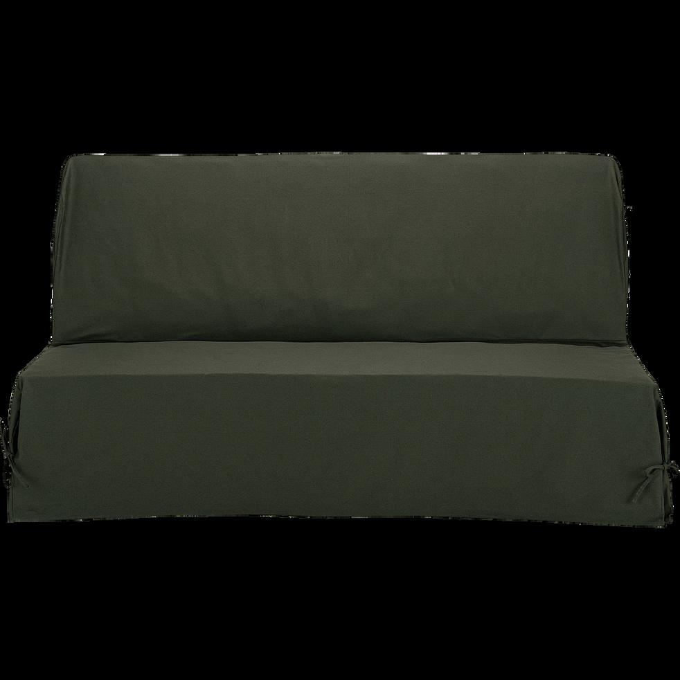 Pauline Housse Clic Clac En Coton Et Polyester Vert Cèdre 70 140 60 Cm