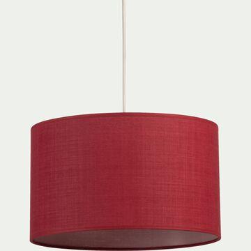 Suspension cylindrique en coton - D40cm rouge arbouse-MISTRAL