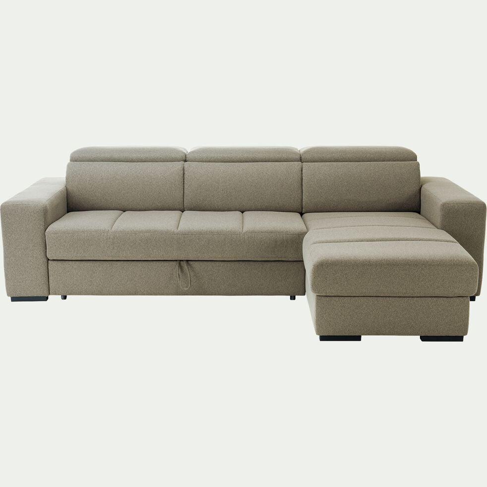 Canapé d'angle réversible et convertible en tissu - beige roucas-ORIGANO