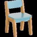 Chaise vintage en acacia pour enfant bleu-RAPHAEL