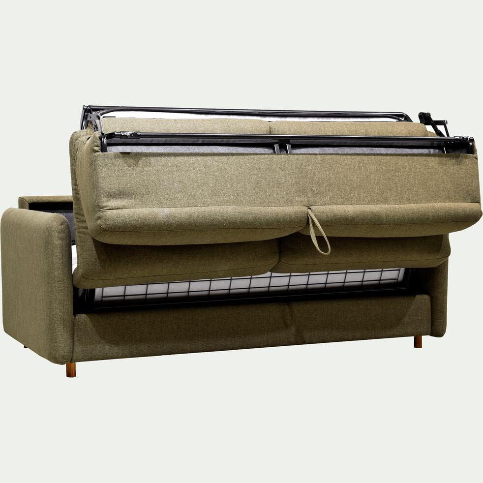 Canapé 4 places convertible en tissu vert cèdre-MORPHEE