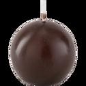 Bougie ronde brun ombre D6cm-HALBA