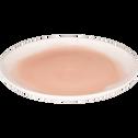Assiette plate en faïence rose grège D27cm-SANARY