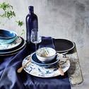 Assiette plate en faïence blanche à motif D27cm-ASMARA