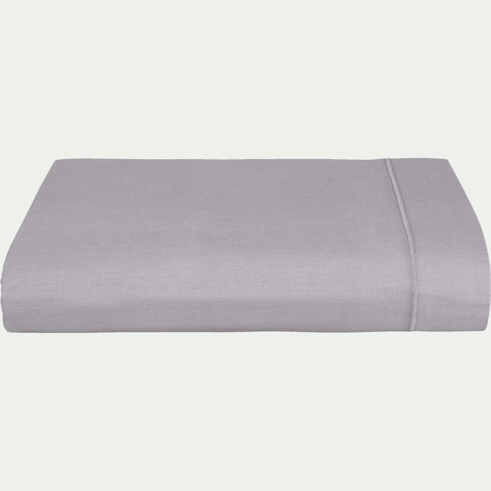 Drap plat en coton - gris restanque 180x300cm-CALANQUES