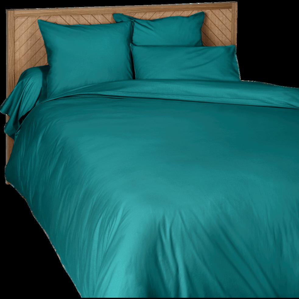 Housse de couette en coton bleu niolon 260x240cm-CALANQUES