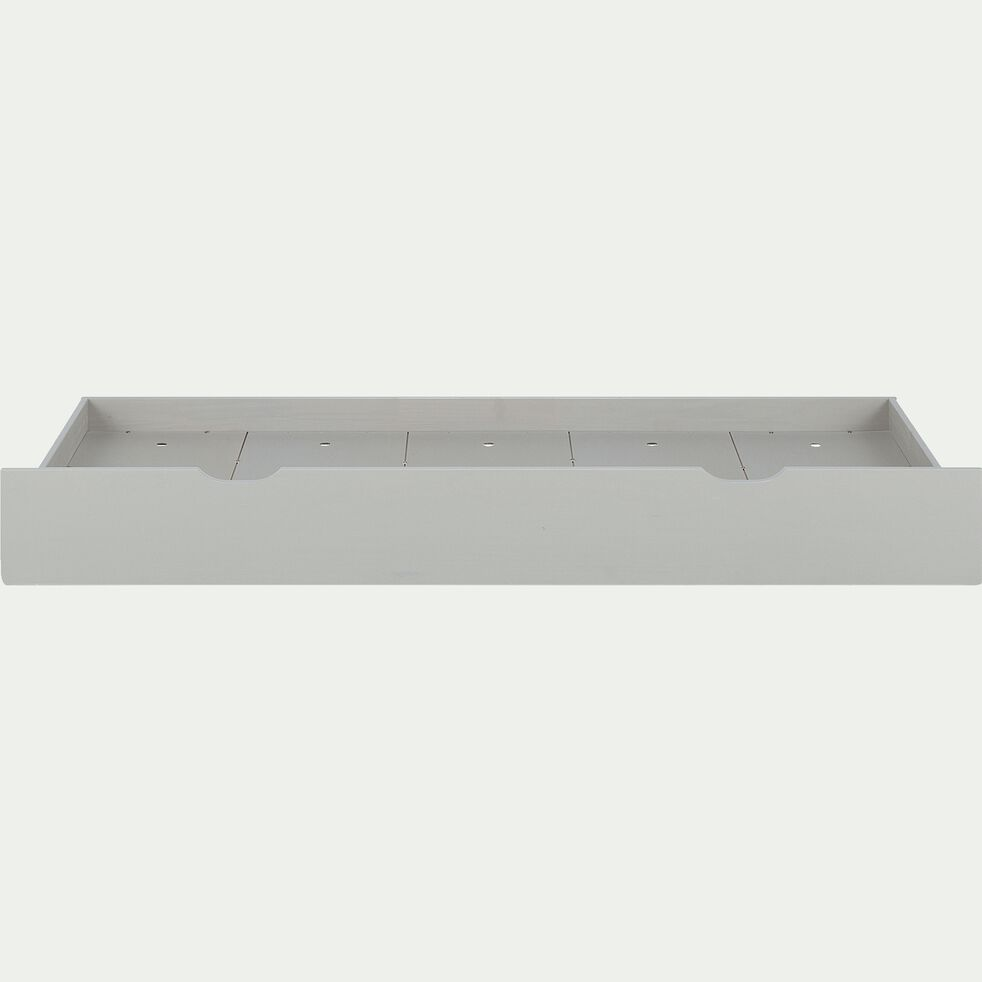 Tiroir de lit en pin massif - gris-GIGARO