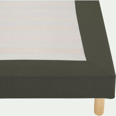 Housse pour sommier Topaze Vert cèdre - 160x200 cm-TOPAZE
