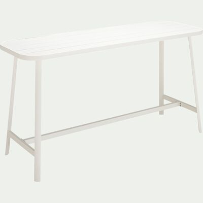 Table haute rectangulaire en aluminium - blanc (2 à 4 places)-DOMINGOS