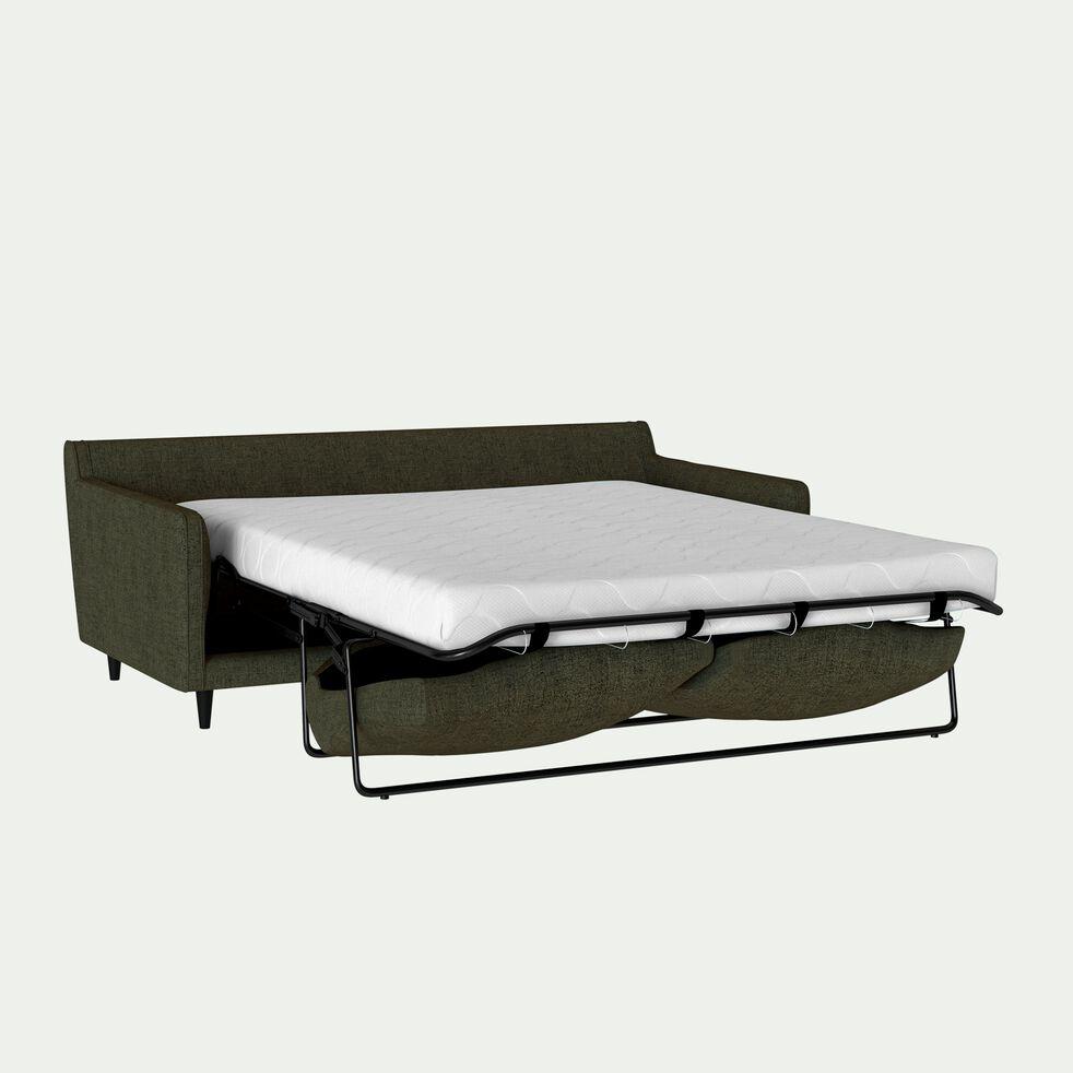 Canapé 3 places convertible en tissu vert cèdre-LENITA