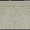 Serviette en coton 50x100cm vert olivier-ETEL