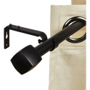 Kit tringle en acier noir extensible 170 à 300 cm-LISON