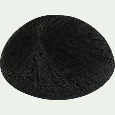 Décoration murale en polyrésine noir 22,5x30,5cm-ENZA
