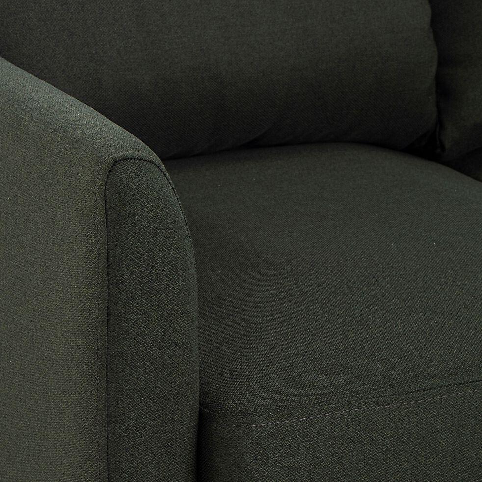 Canapé fixe 3 places en tissu - vert cèdre-CARLES