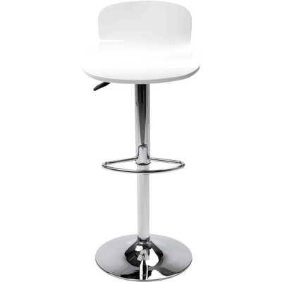 Tabouret de bar réglable blanc-BASIL